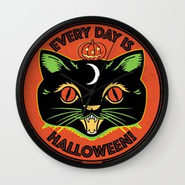 Every Day is Halloween Wall Clock