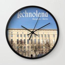 Technoland, Berlin, the Techno Meca Club! Wall Clock