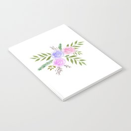 Rose Floral bouquet in watercolor Notebook