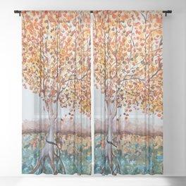 Standing Alone Tree Sheer Curtain