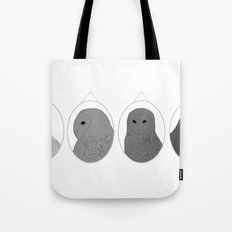 The wall of one conceited owl Tote Bag