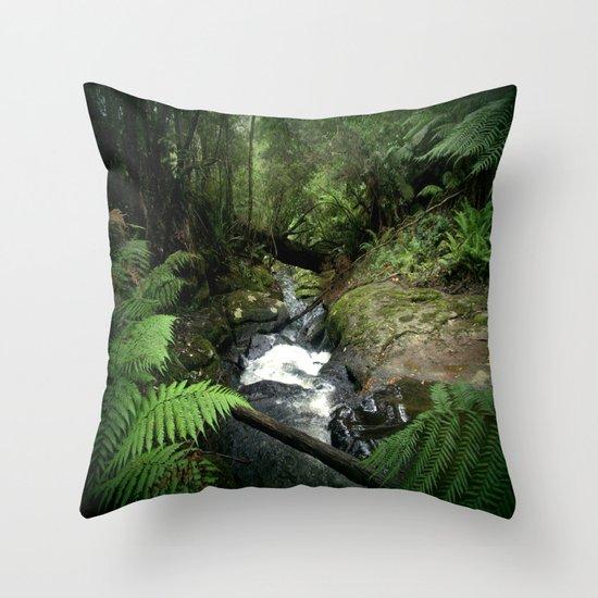 Cool Stream Throw Pillow