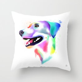 Rainbow Libby Throw Pillow