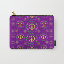 Peace be with us in love and understanding Carry-All Pouch