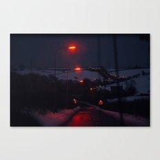 Lamps through Cabourne Canvas Print