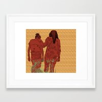 girls Framed Art Prints featuring Girls by Nahal