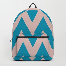 Zig Zag Chevron light blue & pink waves pattern Backpack