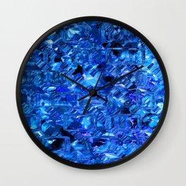 Ice Crystals Abstract Wall Clock