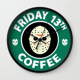 Friday The 13th Coffee Wall Clock