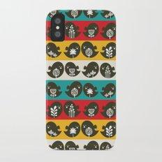 Birds in line. iPhone X Slim Case