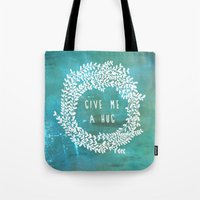 hug Tote Bags featuring Hug by lescapricesdefilles