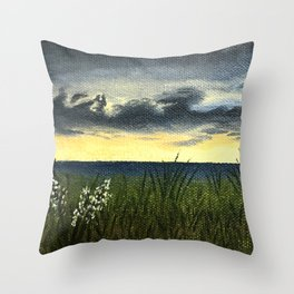 Sunset at Cape May Throw Pillow