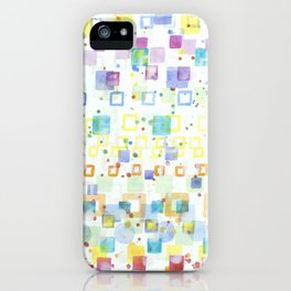 Light Squares with Drops Pattern iPhone Case
