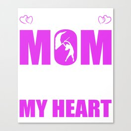 Color Guard Moms Full Heart Mothers Day T-Shirt Canvas Print