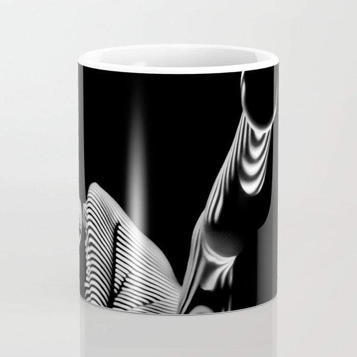 8416-KMA BW Fine Art Nude Woman Toes Striped Foot Up Coffee Mug