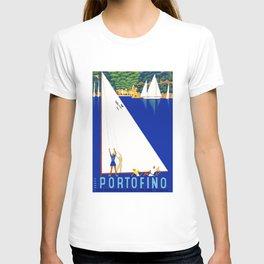1941 PORTOFINO Italy Travel Poster T-shirt