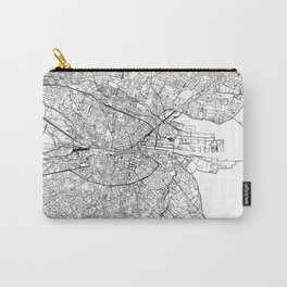 Dublin White Map Carry-All Pouch