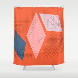 Mid Century Mod in Orange Shower Curtain