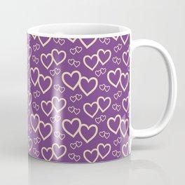 Twin Hearts Repeated Pattern 090#001 Coffee Mug