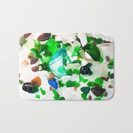 Beach Glass Bath Mat