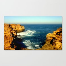 As the sunsets over the Limestone Cliffs Canvas Print