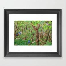 A Day of Forest (2). (sunshine forest) Framed Art Print