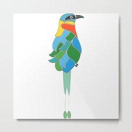Whimsy bobo bird Metal Print