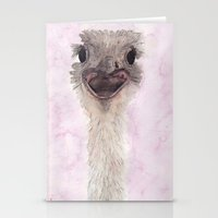 ostrich Stationery Cards featuring Ostrich by Catherine Johnson