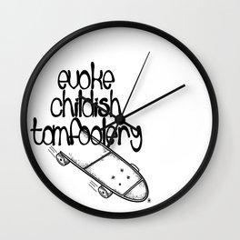Childish Tomfoolery Wall Clock