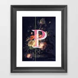 Letter P Framed Art Print
