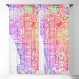 Los Angeles City Map of the United States - Colorful Blackout Curtain