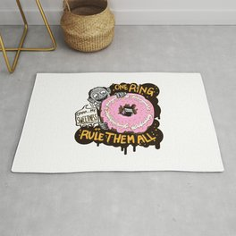 Lord of the Donut Rings Rug