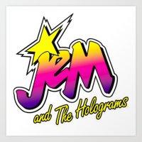 jem Art Prints featuring Jem by LuxuryLivingNYC