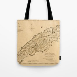 Map Of Tobago 1776 Tote Bag