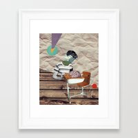 brain Framed Art Prints featuring Brain by Oleg Borodin