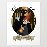 over the garden wall Art Prints featuring Over The Garden Wall by Lockholmes