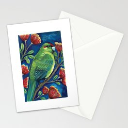 Kakariki Vibes of New Zealand Stationery Cards