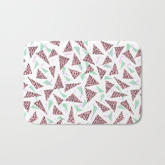 Everitt - triangles minimal modern abstract pattern design geometric decor Bath Mat