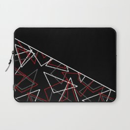 Abstract black combo pattern . Triangles Laptop Sleeve