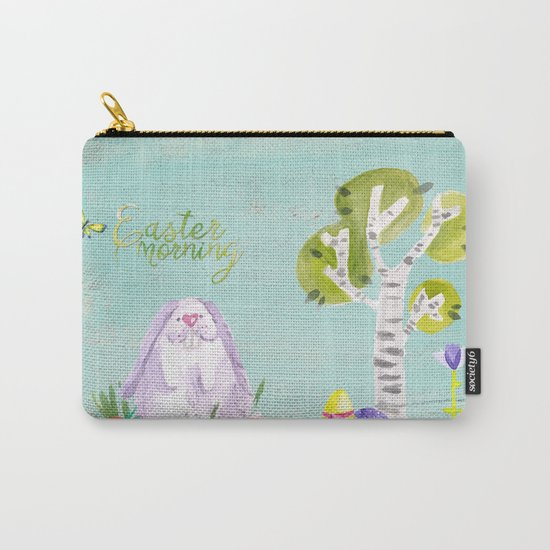 Easter Morning I- Animal Rabit Hare Bunny Spring for children Carry-All Pouch