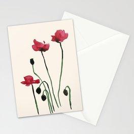 Poppy Mourning Stationery Cards