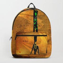 Africa retro vintage style design illustration Backpack