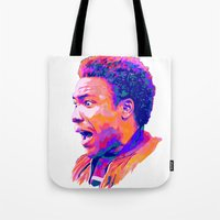 childish gambino Tote Bags featuring CHILDISH GAMBINO // NEXTGEN RAPPERS by mergedvisible