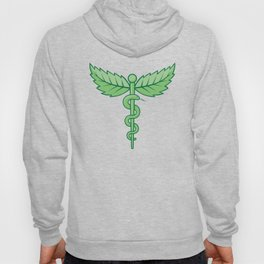 Caduceus with leaves Hoody