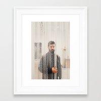 christian schloe Framed Art Prints featuring Christian by Thomas Cadrin
