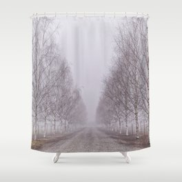 Foggy Path Shower Curtain