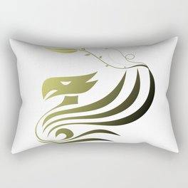Bird and Flower Rectangular Pillow