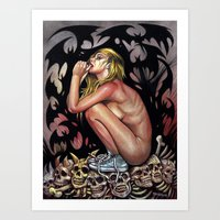 Vampire Beauty Her Wearing Converse Art Print