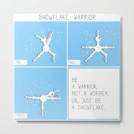 Snowflake warrior square comic Metal Print