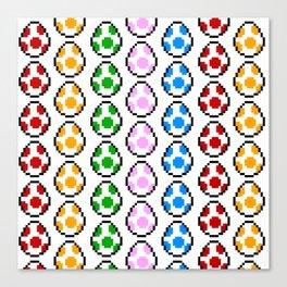 Yoshi Rainbow Eggs Canvas Print